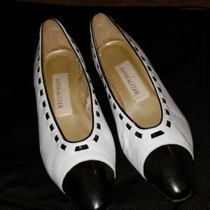 Naturalizer Black and White Heels